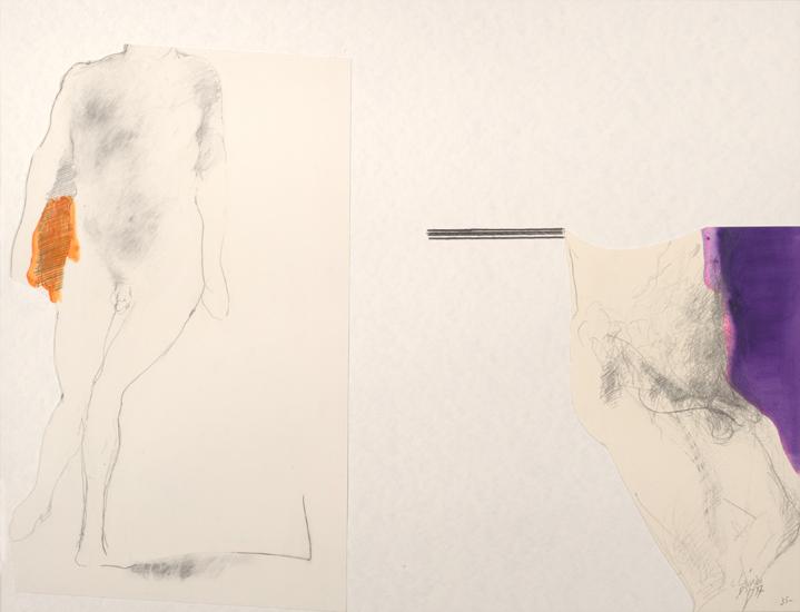 Dessin: mine de plomb et encre sur papier collé. 1997
