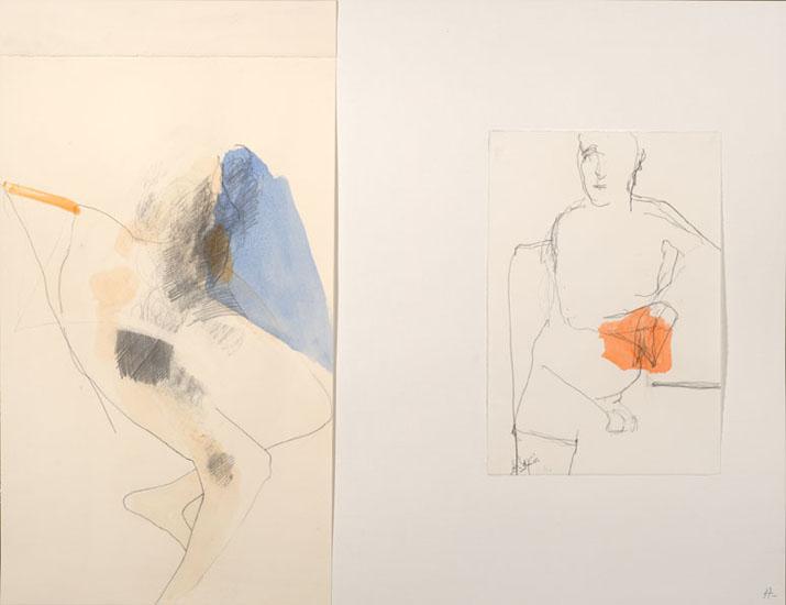 Dessin: mine de plomb et encre sur papier collé. 1995-97